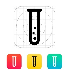Test tube with gas icon vector