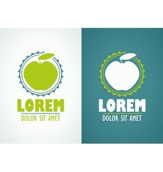 Apple icon or logo template vector