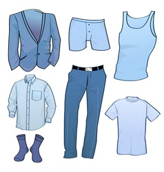 clothing for men vector image