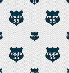 Route 55 highway icon sign seamless abstract vector