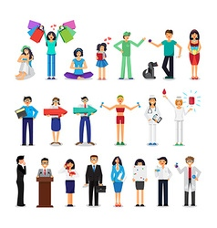 People of different occupations vector