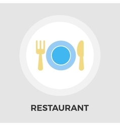 Restaurant flat icon vector image