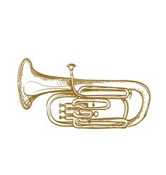 Baritone horn vector