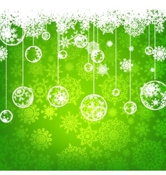 Beautiful green christmas card eps 8 vector