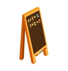 Blackboard or sandwich school chalkboard blank vector