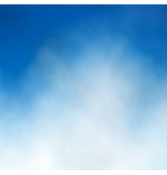 Blue sky cloud vector image