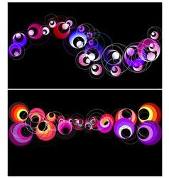 Colorful circles horizontal banner vector image vector image