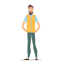 funny bearded hipsters isolated on white vector image