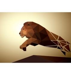 Lion polygonal geometric pattern design vector image