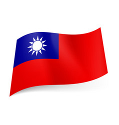 National flag of taiwan republic of china blue vector