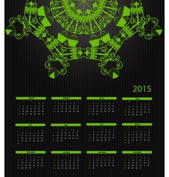 New Year Calendar 2015 vector image
