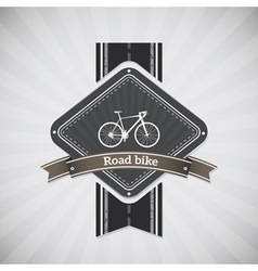 Road bike vector