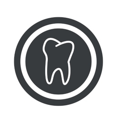 Round black tooth sign vector