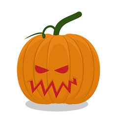 Scary pumpkins for Halloween terrible holiday vector image