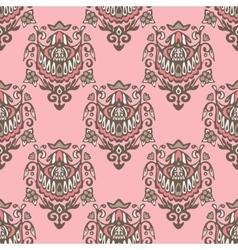 seamless damask vintage pattern design vector image