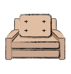 seat sofa comfort element office icon vector image