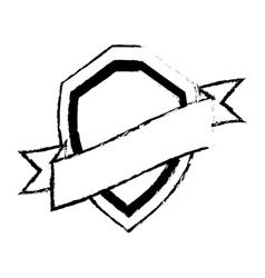 shield guarantee premium label sketch vector image