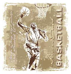 slam dunk basketball champ vector image vector image