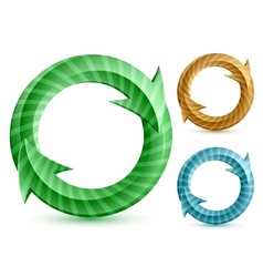 stripped circular arrows vector image