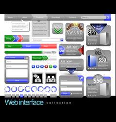 Web design element frame template vector