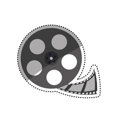 Movie roll equipment vector image