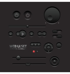 Dark web ui elements vector