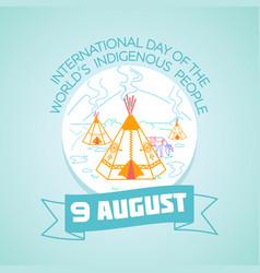 9 august indigenous people vector