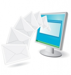 emails vector image