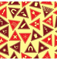 Colorful danger signs types seamless pattern eps10 vector