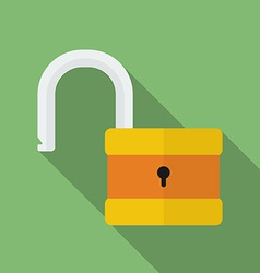 Icon of padlock modern trendy flat style vector