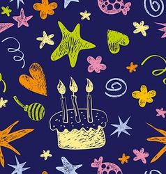 Birthday seamless pattern vector
