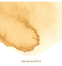 Coffee abstract watercolor background vector