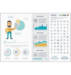 Business flat design infographic template vector