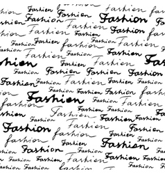 Lettering of fashion vector