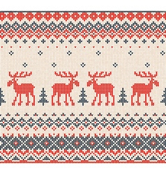 Scandinavian or russian flat style knitted pattern vector
