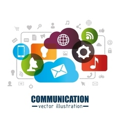 Communication concept design vector