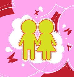Couple background design vector