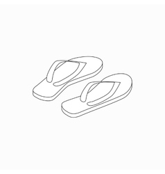 Beach slippers icon isometric 3d style vector