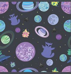 a design cheerful alien vector image vector image