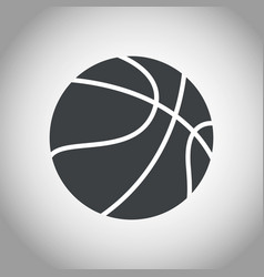 basketball ball black and white vector image vector image