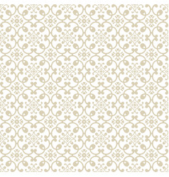 Beige plant seamless pattern background vector