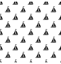 Boat with sails pattern simple style vector image