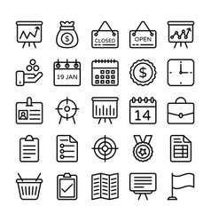Business and office line icons 17 vector