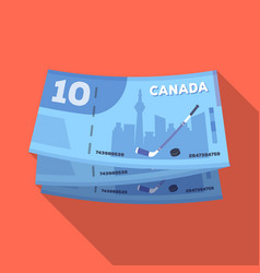Canadian dollar canada single icon in flat style vector
