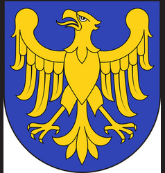 coat of arms of silesian voivodeship in poland vector image vector image