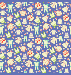 Cute background collection of baby and children vector