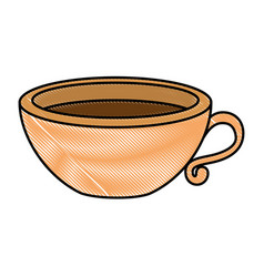 delicious cup coffee icon vector image