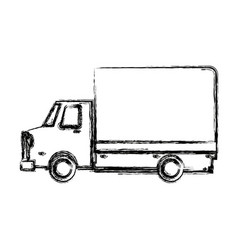 delivery truck transport cargo business vector image vector image