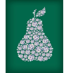Diamond pear vector image vector image