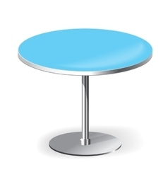 Empty Round Table vector image vector image